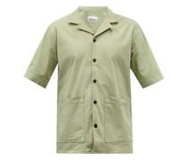 Alternate Cuban-collar Organic Cotton-blend Shirt