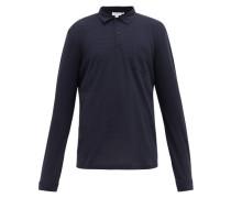 Riviera Cotton-piqué Long-sleeved Polo Shirt