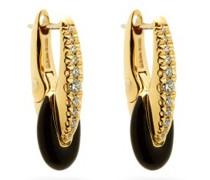 Ada Diamond, Enamel & 18kt Gold Earrings