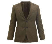 Single-breasted Wool-fresco Suit Jacket