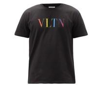 Vltn-print Cotton-jersey T-shirt