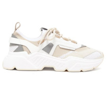 Daymaster Leather, Suede And Mesh Trainers