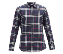 Caxton Checked Cotton-poplin Shirt
