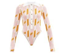 Carina Geometric-print Bodysuit