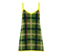 Sequinned Check Mini Dress