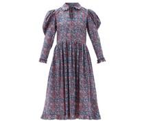 Coco Floral-print Cotton-poplin Midi Dress