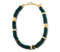 Laguna Glass Bead & Gold-plated Necklace