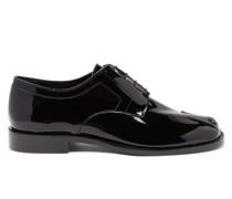 Tabi Split-toe Patent-leather Derby Shoes