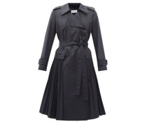 Pleated Cotton-blend Gabardine Trench Coat
