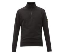 Logo-patch Garment-dyed Cotton-jersey Sweatshirt