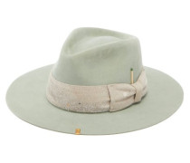 Santa Lucia Paint-splatter Bow Felt Fedora Hat