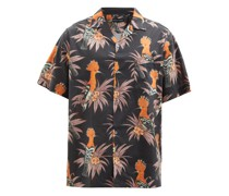 Marginata Bird-print Cotton-poplin Pyjama Shirt