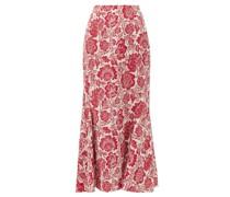 Ivetta Floral-jacquard Midi Skirt