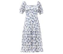 The Paloma Floral-print Twill Midi Dress