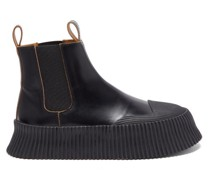 Ribbed-sole Leather Chelsea Boots