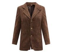 Double-lapel Herringbone Jacket