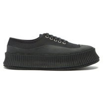 Ribbed-sole Canvas Trainers