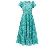Sawyer Floral-print Organic-cotton Midi Dress