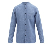 Stand-collar Cotton-piqué Shirt