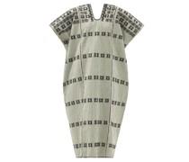 No.268 Embroidered Striped Cotton Kaftan