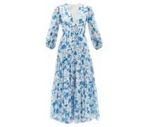 Faustine Floral-print Cotton-blend Voile Dress