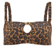 Carambole Keyhole-front Leopard-print Bikini Top