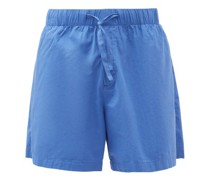 Drawstring-waist Cotton-poplin Pyjama Shorts