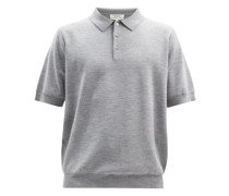 Merino Wool-blend Jersey Polo Shirt