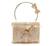 Holli Amelia Crystal-embellished Cage Clutch Bag