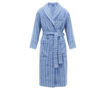 Striped Organic-cotton Terry Bathrobe