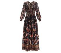 A Girl Like You-print Silk Maxi Dress