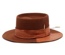 Peniche Felt And Leather Fedora Hat