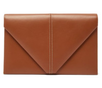 The Envelope Leather Clutch