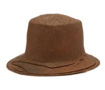 Winkled Straw Bucket Hat