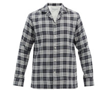 Dario Checked Cotton-blend Twill Shirt