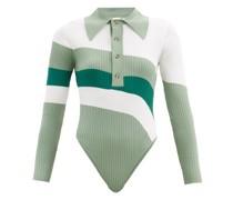 Hera Striped Ribbed-knit Bodysuit