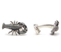 Lobster Sterling-silver Cufflinks