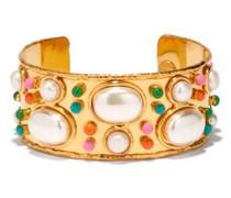 Byzantine Pearl & Gold-plated Cuff