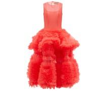 Yetunde Tiered Tulle Midi Dress