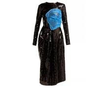 Stephanie Sequinned Panelled Midi Dress