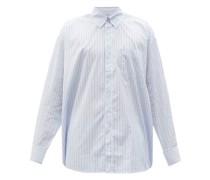 Borrowed Striped Cotton-poplin Shirt
