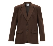 Single-breasted Prince Of Wales-check Wool Jacket