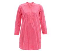 Embroidered Cotton Tunic Shirt Dress