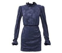 Rina B Daybreak-jacquard Silk-satin Dress