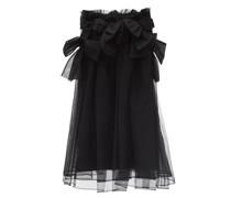 Bow-trimmed Tulle Skirt