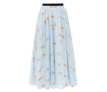 Alula Floral-print Cotton Midi Skirt