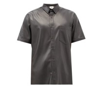 Adam Short-sleeved Faux-leather Shirt