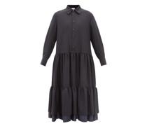 Tiered Wool Shirt Dress
