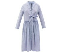 Ruffled Check Cotton Midi Dress