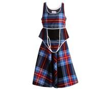 Checked Velvet Dress